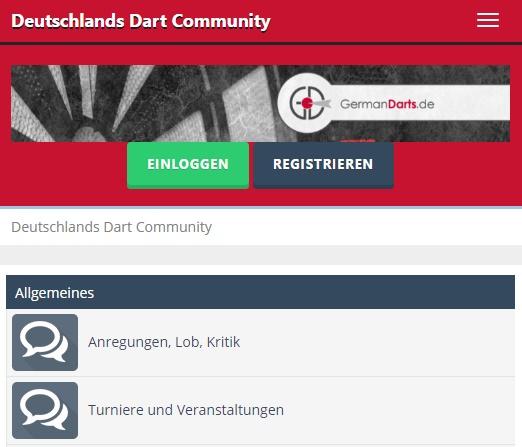 EIn Dart Forum für alle deutsch-sprachigen Dart Fans