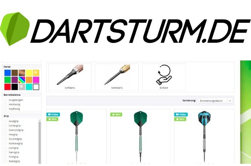 Review: DartSturm.de – Online-Shop für Darts